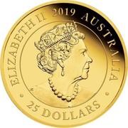 Australia 25 Dollars Elizabeth II (Australia Sovereign) 2019 Proof ELIZABETH II 2019 AUSTRALIA JC 25 DOLLARS coin obverse