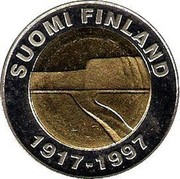 Finland 25 Markkaa 80th Anniversary of Independence 1997 M-L KM# 85 SUOMI FINLAND 1917-1997 coin obverse