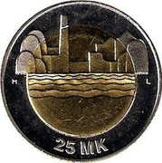 Finland 25 Markkaa 80th Anniversary of Independence 1997 M-L KM# 85 M L 25 MK coin reverse