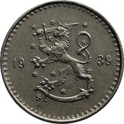 Finland 25 Pennia 1939 S KM# 25 Decimal Coinage DATE coin obverse