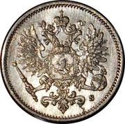 Finland 25 Pennia Denticulated rim 1915 S KM# 6.2 coin obverse