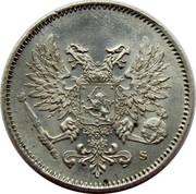 Finland 25 Pennia Nikolai II (Civil War Coinage) 1917 S KM# 19 coin obverse