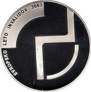 Slovenia 2500 Tolarjev European Year of the Disabled 2003 Proof KM# 53 EVROPSKO LETO INVALIDOV 2003 coin reverse