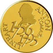 Slovenia 25000 Tolarjev Anton Tomaz Linhart 2006 Proof KM# 84 ANTON TOMAŽ LINHART 1756 1795 coin reverse