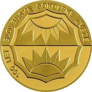 Slovenia 25000 Tolarjev Slovene Sokol Association 2005 Proof KM# 66 100 LET SLOVENSKE SOKOLSKE ZVEZE coin reverse