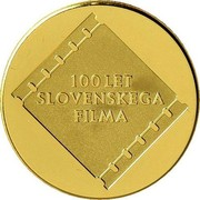 Slovenia 25000 Tolarjev Slovenian Film Centennial 2005 Proof KM# 67 100 LET SLOVENSKEGA FILMA coin reverse