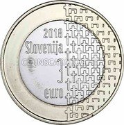 Slovenia 3 Euro End of the First World War 2018  in proof set 2018 SLOVENIJA 3 EURO coin obverse