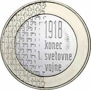 Slovenia 3 Euro End of the First World War 2018 in proof set 1918 KONEC 1. SVETOVNE VOJNE coin reverse
