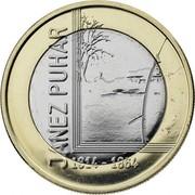 Slovenia 3 Euro Janez Puhar 2014 KM# 118 JANEZ PUHAR 1814 - 1864 coin reverse