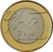 Slovenia 3 Euro (May Declaration) 29/5 17 3 EURO SLOVENIJA 2017 coin obverse
