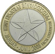 Slovenia 3 Euro Presidency of EU 2008 Proof KM# 81 PREDSEDOVANJE EVROPSKI UNIJI - JANUAR - JUNIJ 2008 FACTA LOQUUNTUR coin reverse