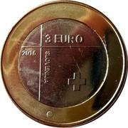 Slovenia 3 Euro (Red Cross) 3 EURO 2016 SLOVENIJA coin obverse