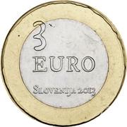 Slovenia 3 Euro Tolmin Peasant Revolt 2013 KM# 108 3 EURO SLOVENIJA 2013 coin obverse