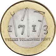 Slovenia 3 Euro Tolmin Peasant Revolt 2013 KM# 108 1713 VELIKI TOLMINSKI PUNT coin reverse