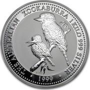 Australia 30 Dollars Australia 1999 Kookaburra 1999 ELIZABETH II AUSTRALIA • 30 DOLLARS • IRB coin reverse