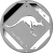 Australia 30 Dollars Kangaroo Road Sign 2013 Proof 1 KG .999 AG WP coin reverse