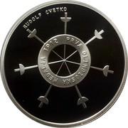 Slovenia 30 Euro 100th anniv of first Slovene Olympic medal 2012 Proof KM# 110 RUDOLF CVETKO PRVA OLIMPIJSKA MEDALJA 1912 coin reverse
