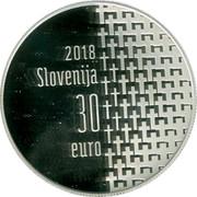 Slovenia 30 Euro 100th Anniversary of end of WW1 2018 2018 SLOVENIJA 30 EURO coin obverse