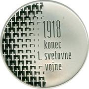 Slovenia 30 Euro 100th Anniversary of end of WW1 2018 1918 KONEC 1 SVEIOVNE VOJNE coin reverse