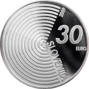 Slovenia 30 Euro Aircraft Flight Anniversary 2009 Proof KM# 86 SLOVENIJA 30 EURO 2009 coin obverse