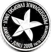 Slovenia 30 Euro EU Presidency 2008 Proof KM# 78 PREDSEDOVANJE EVROPSKI UNIJI - JANUAR - JUNIJ 2008 FACTA LOQUUNTUR coin reverse