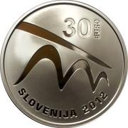 Slovenia 30 Euro European Capital of Culture - Maribor 2012 Proof KM# 115 30 EURO SLOVENIJA 2012 coin obverse