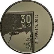 Slovenia 30 Euro Janez Puhar 2014 Proof KM# 119 30 EURO SLOVENIJA 2014 coin obverse
