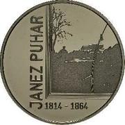 Slovenia 30 Euro Janez Puhar 2014 Proof KM# 119 JANEZ PUHAR 1814 - 1864 coin reverse