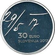 Slovenia 30 Euro May Declaration 2017 Proof 29/5 17 30 EURO SLOVENIJA 2017 coin obverse
