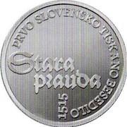 Slovenia 30 Euro Stara Prauda 2015 Proof PRVO SLOVENSKO TISKANO BESEDILO 1515 STARA PRAUDA coin reverse