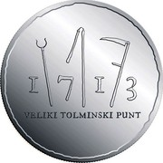 Slovenia 30 Euro Tolmin Peasant Revolt 2013 Proof KM# 113 1713 VELIKI TOLMINSKI PUNT coin reverse