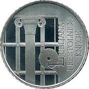 Slovenia 30 Euro World Book Capital - Ljubljana 2010 Proof KM# 96 LJUBLJANA PRESTOLNICA KNJIGE coin reverse