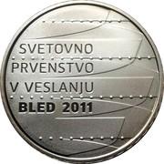 Slovenia 30 Euro World Rowing Championships in Bled 2011 Proof KM# 104 SVETOVNO PRVENSTVO V VESLANJU BLED 2011 coin reverse