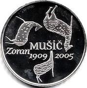 Slovenia 30 Euro Zoran Music 2009 Proof KM# 88 ZORAN MUSIC 1909 2005 coin reverse