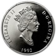 Canada 300 Dollars Cougar 1992 Proof KM# 229 ELIZABETH II D G REGINA 1992 coin obverse
