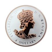 Canada 4 Dollars Longest Reigning Sovereign 2016 Proof KM# 2093 ELIZABETH II D ∙ G ∙ REGINA 4 DOLLARS coin obverse