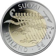 Finland 5 Euro 90th Anniversary of Independence 2007 P Proof KM# 146 SUOMI FINLAND 5 € coin obverse