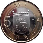 Finland 5 Euro Aland 2011 T KM# 177 2011 5 EURO T coin reverse