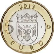 Finland 5 Euro Aland 2013 Proof KM# 200 2013 5 EURO T coin reverse