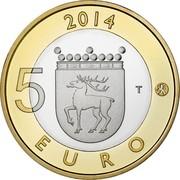 Finland 5 Euro Aland 2014 Proof KM# 209 2014 5 EURO T coin reverse