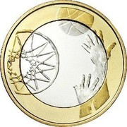 Finland 5 Euro Basketball 2015 Proof KM# 237 coin reverse