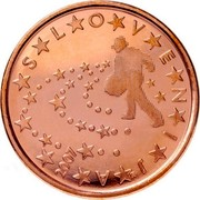 Slovenia 5 Euro Cent Stars 2007 KM# 70 SLOVENIJA coin obverse