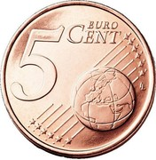 Finland 5 Euro Cent The Heraldic Lion of the Coat of Arms of Finland 1999 M Proof KM# 100 5 EURO CENT LL coin reverse
