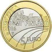Finland 5 Euro Cross Country 2016 Proof KM# 244 SUOMI FINLAND 2016 T 5 EURO coin obverse