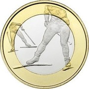 Finland 5 Euro Cross Country 2016 Proof KM# 244  coin reverse