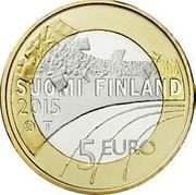 Finland 5 Euro Figure skating 2015 Proof KM# 235 SUOMI FINLAND 2015 T 5 EURO coin obverse