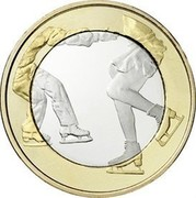Finland 5 Euro Figure skating 2015 Proof KM# 235 coin reverse