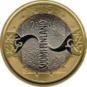 Finland 5 Euro Finnish Presidency of the European Council 2006 M P-M KM# 131 SUOMI FINLAND 20 06 coin obverse