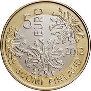 Finland 5 Euro Flora 2012 P Proof KM# 184 SUOMI FINLAND 5 EURO 2012 coin obverse