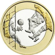 Finland 5 Euro Football 2016 Proof KM# 246  coin reverse